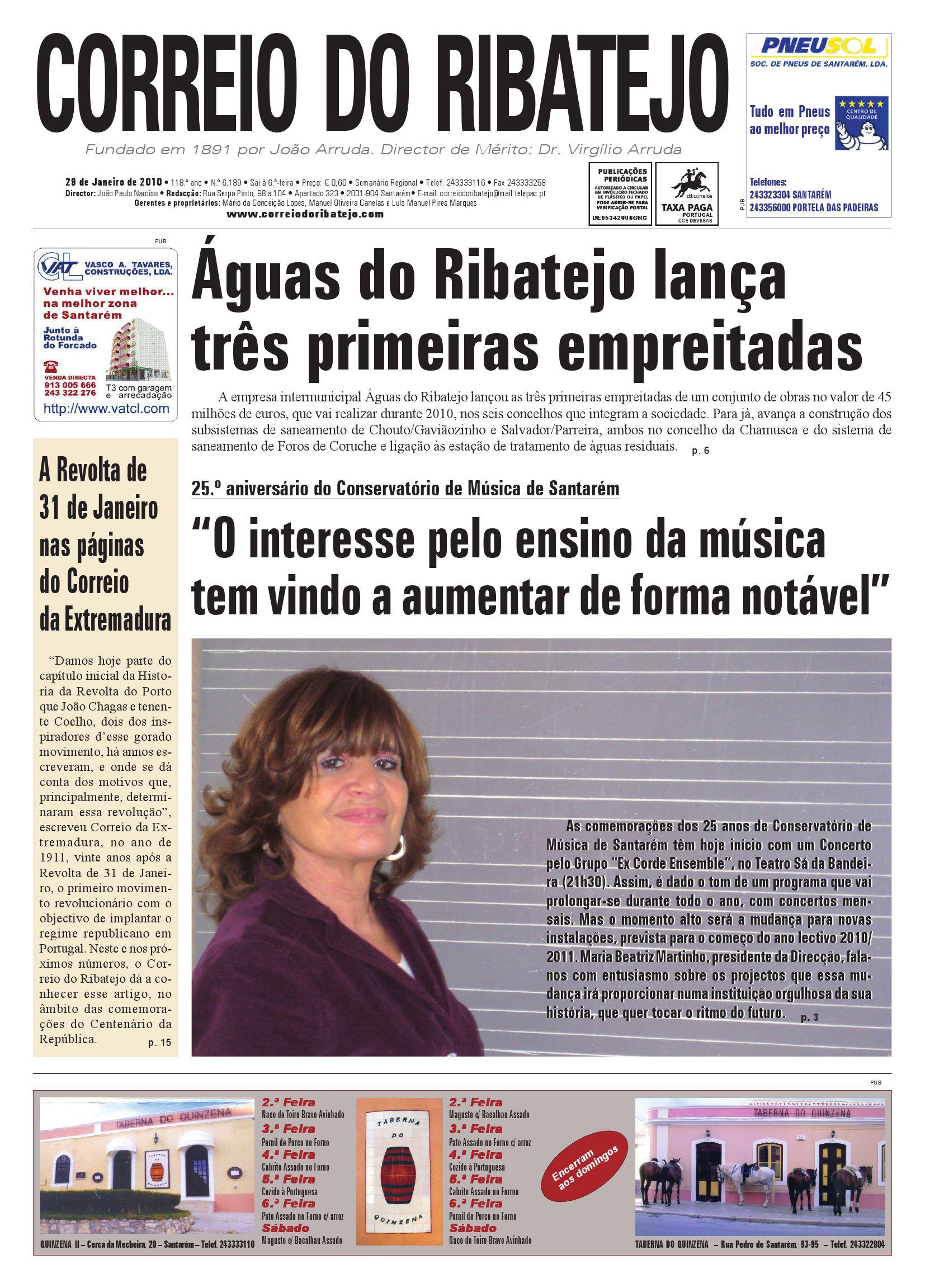 94c63abe67 Edição n.º 6.189 de 29 de Janeiro de 2010 by Correio do Ribatejo jornal -  issuu