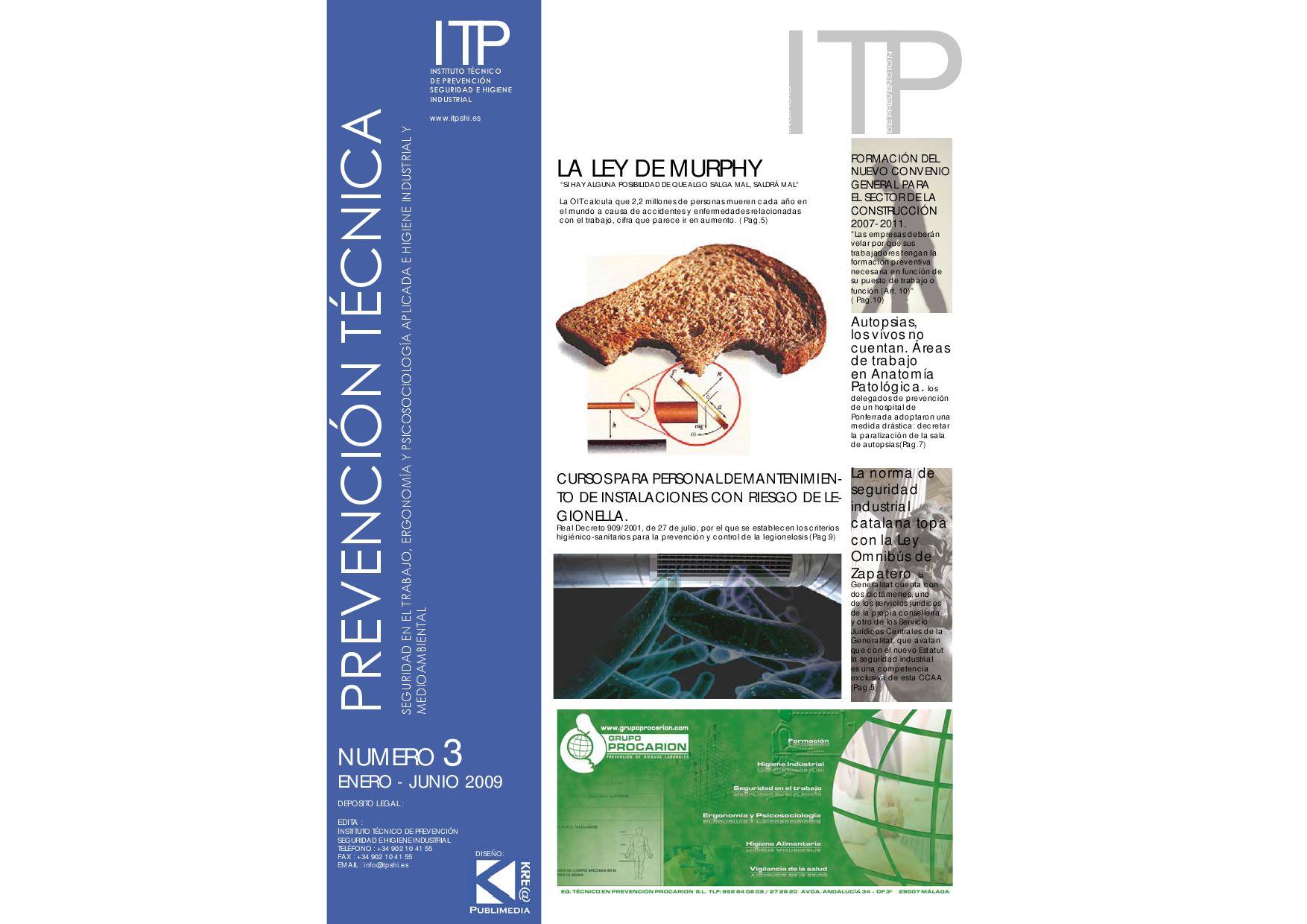 Publicación ITP nº3 by Grupo Empresarial Preventel - issuu