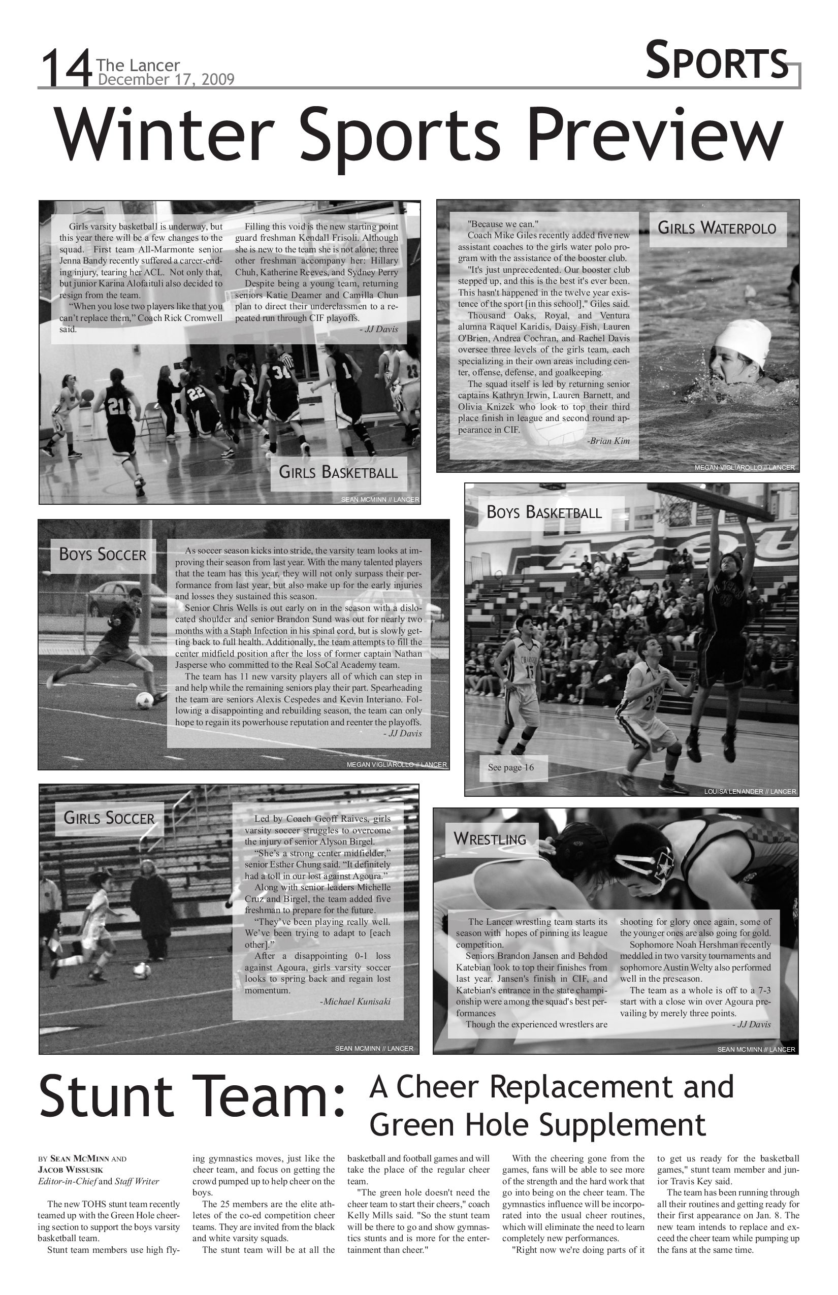 Issue 5, 2009-2010 by The Lancer - issuu