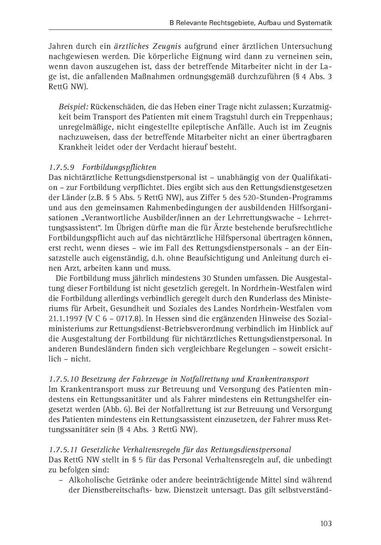 Rettungssanitäter zeugnis  Rechtshandbuch für Feuerwehr-, Rettungs- und Notarztdienst by ...