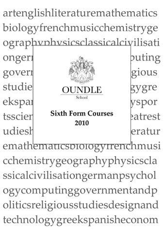 Kingham hill school sixth form prospectus by Edworld issuu Issuu Sixth ...