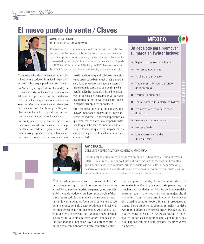 20/20 Profesional México. Edición Diciembre – Enero 2010 by Creative ...