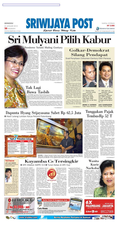 Sriwijaya Post Edisi Minggu 31 Januari 2010 by Yulius Saputra - issuu bee0b0bf2f