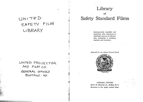 1921 United Safety Film Library 28mm catalog by David Pierce - issuu