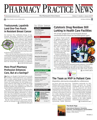Pharmacy practice news january 2010 digital edition by mcmahon page 1 fandeluxe Choice Image