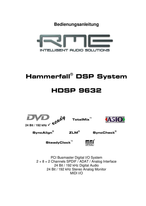 RME HDSP 9652 voll funktionsfähig!