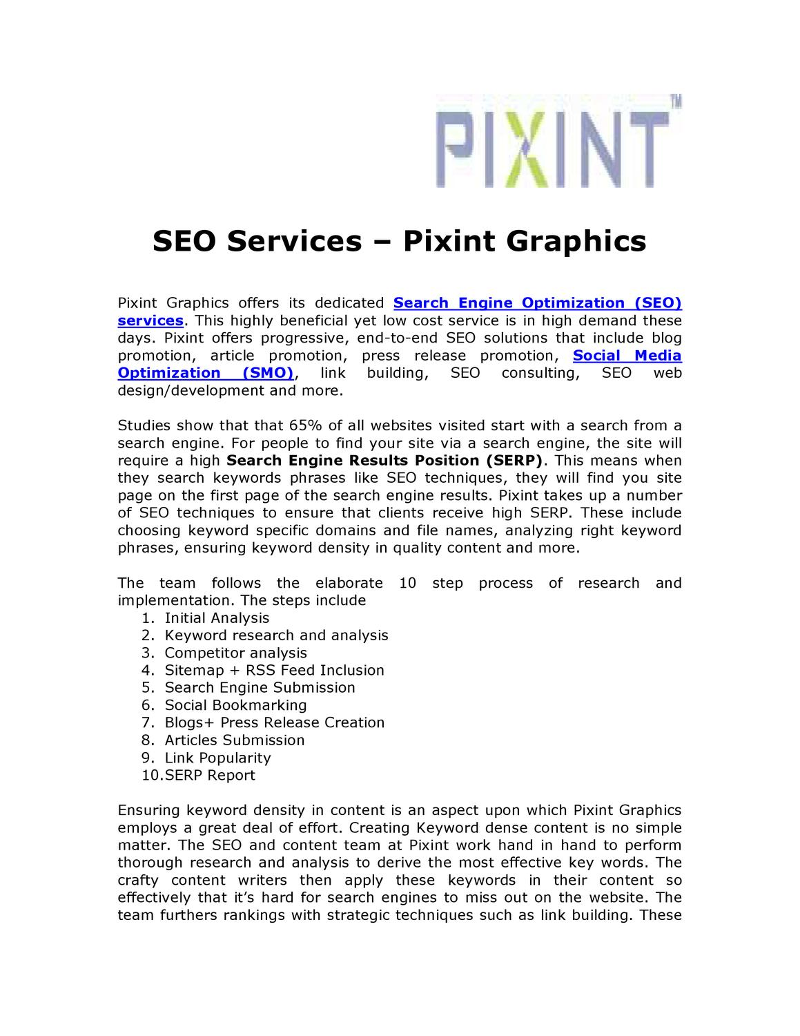 Search Engine Optimization (SEO) Services - Pixint by