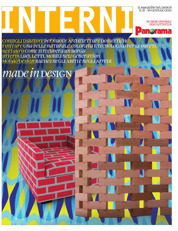 interni panorama 57 by interni magazine - issuu - Bel Divano In Pelle Posteriore Con Sedili Imbottiti Armi