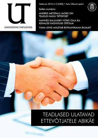 76f963466b4 UT veebruar 2010, nr 2 by Universitas Tartuensis - issuu