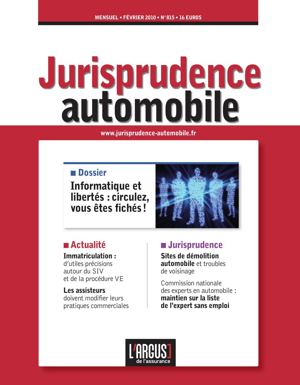 JURISPRUDENCE AUTOMOBILE (LA)