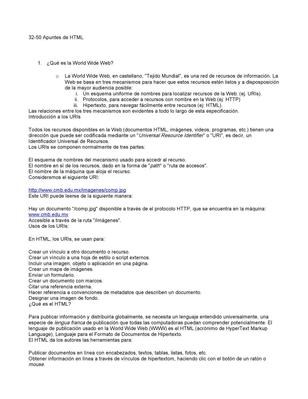 Apuntes de HTML by monica vicencio carnalla - issuu
