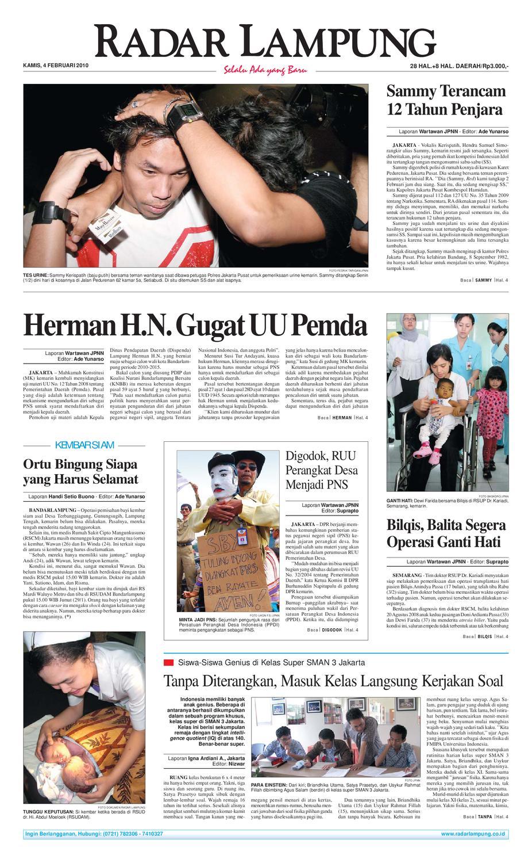 Radar Lampung Kamis 4 Februari 2010 By Issuu Mesin Untuk Membungkus Makanan Hand Wrapping Sat Hw450starpack