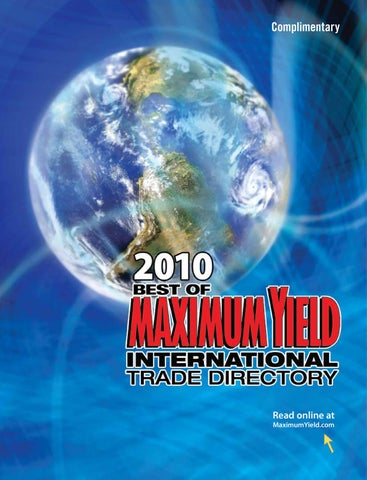 2010 Best Of Maximum Yield International Trade Directory By