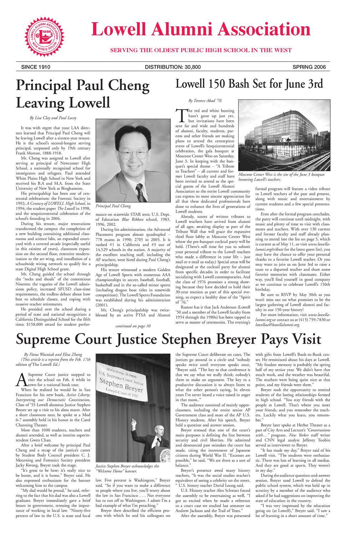 Lowell Alumni Newsletter Spring 2006 By Lowell Alumni Association
