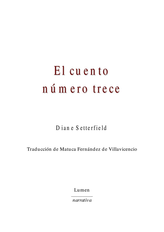 El cuento numero 13 by oscar rodriguz issuu for El cuento numero trece