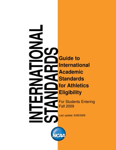 Http Www Bsubeavers Com Media Pdf Ncaa Guide To International Academic Standards 2009 By Alex Short Issuu
