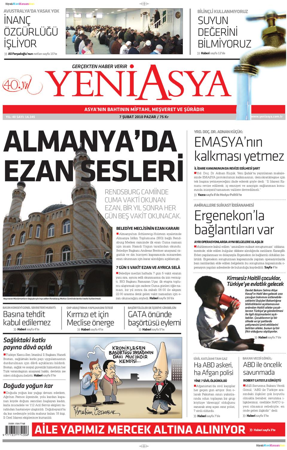 Calameo Yeni Vatan Turkish Newspaper Issue No 1871