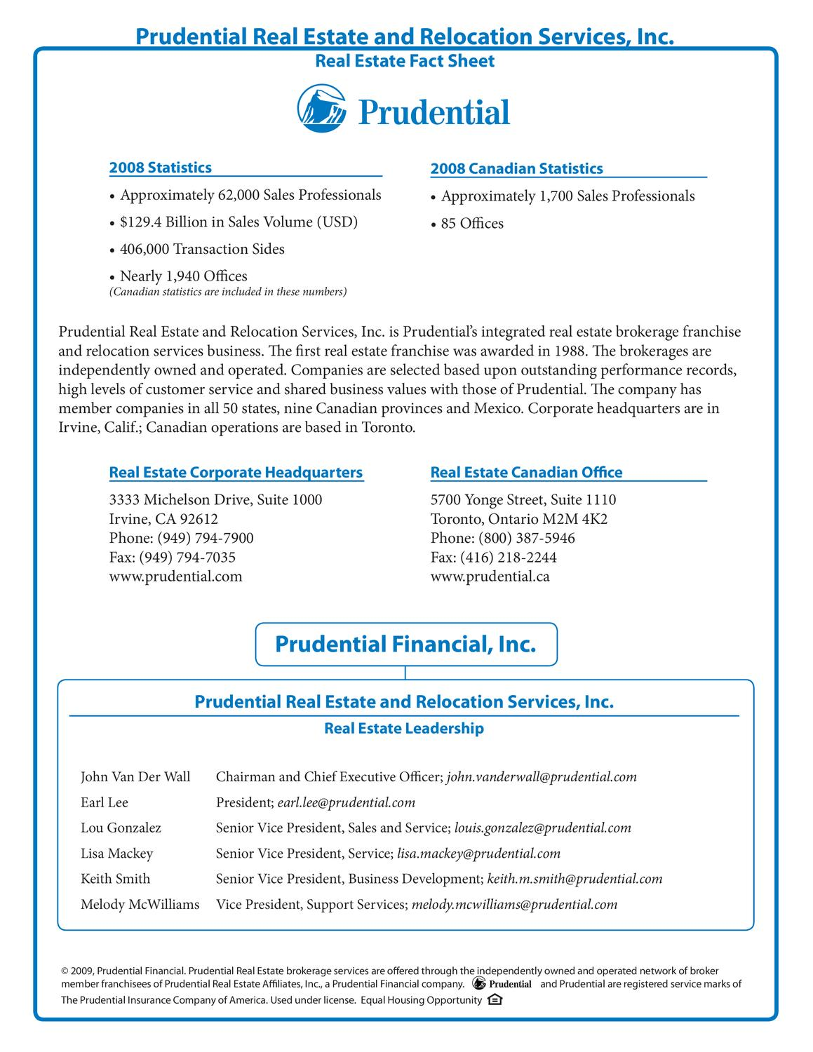 Prudential Real Estate Package for Real estate agents by
