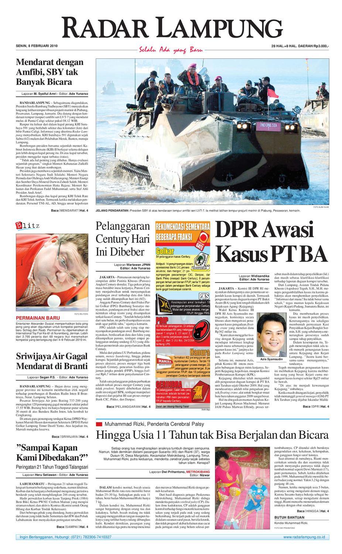 Radar Lampung Senin 8 Februari 2010 By Issuu Parcel Makanan Ampamp Keramik Pja 1608