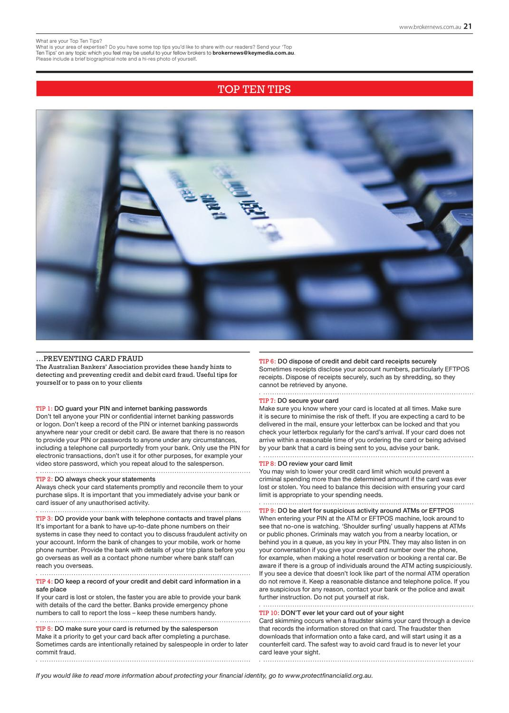 Australian Broker magazine Issue 7 2 by Key Media - issuu