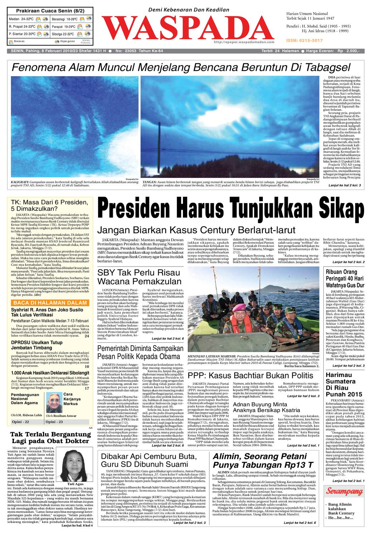 Waspada Senin 8 Februari 2010 By Harian Issuu Gendongan Bayi Depan Mbg 6201 Free Ongkir Jabodetabek