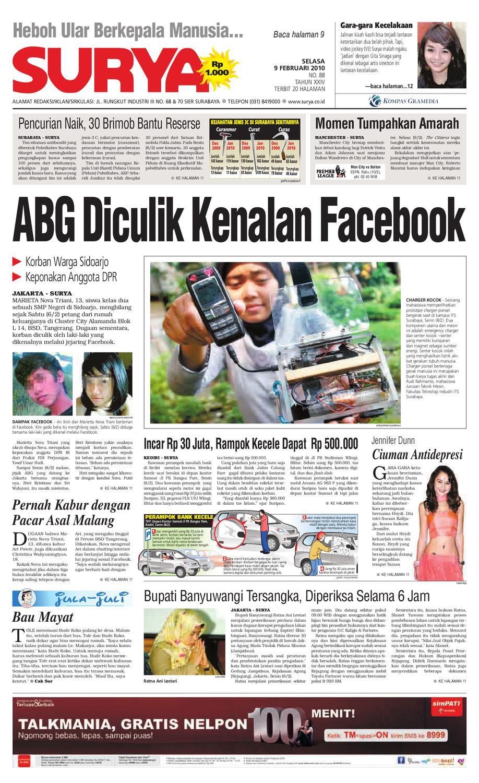 Surya Edisi Cetak 09 Feb 2010 By Harian Issuu Kopibubuk Robusta Toko Rezeki Akumandiri Malang