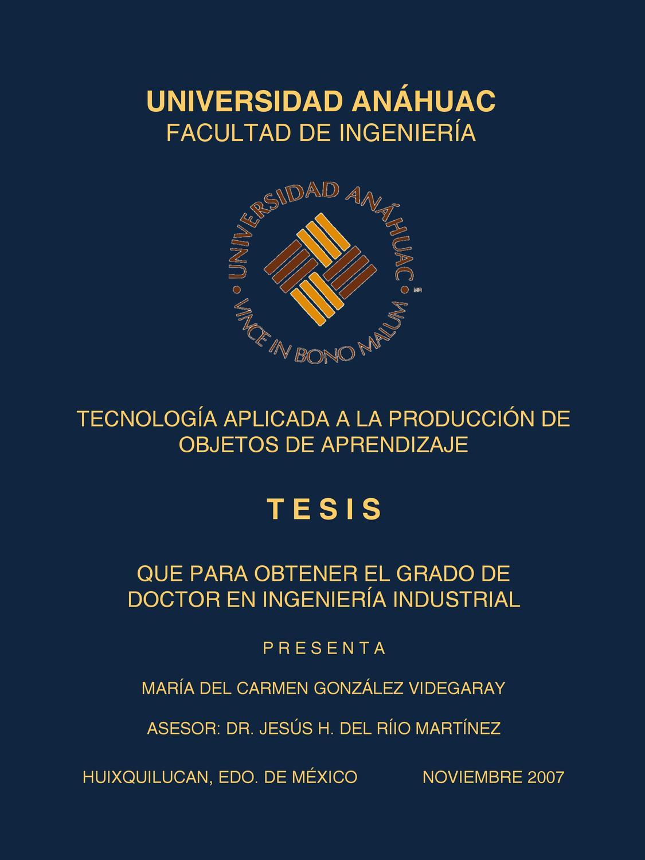 Tesis Doctoral: Tecnología Aplicada a la Producción de Objetos de ...