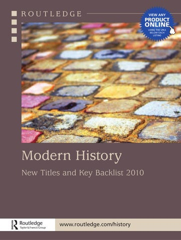 Modern History 2010 Uk By Routledge Taylor Francis Group Issuu