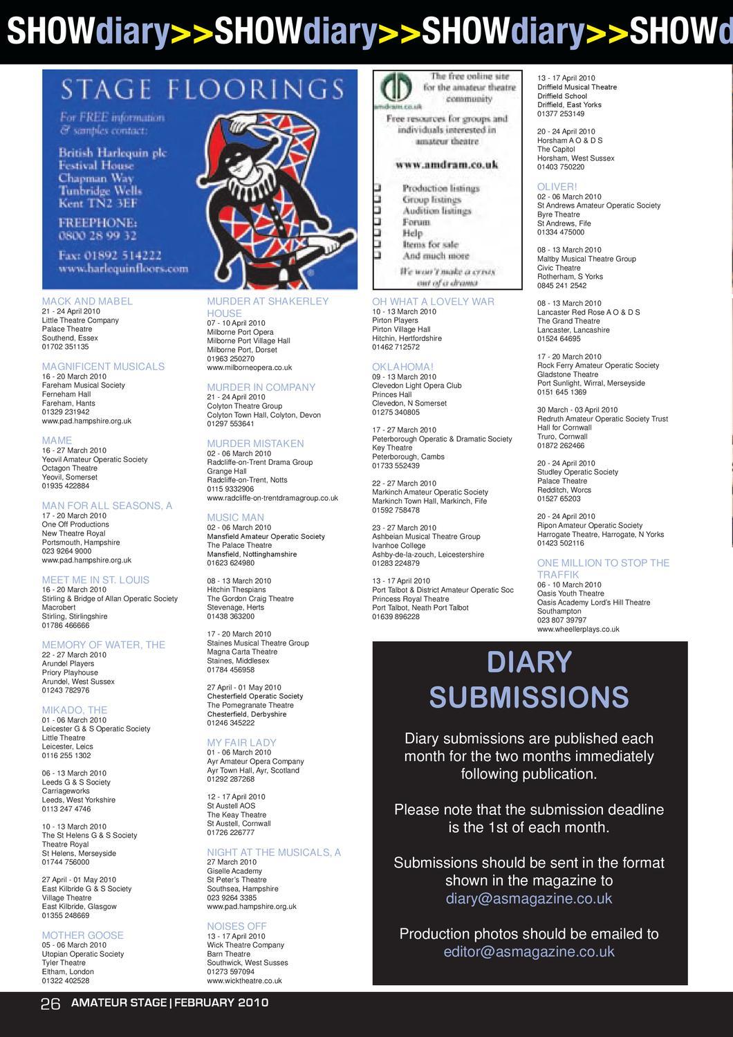 Amateur Stage Magazine February 2010
