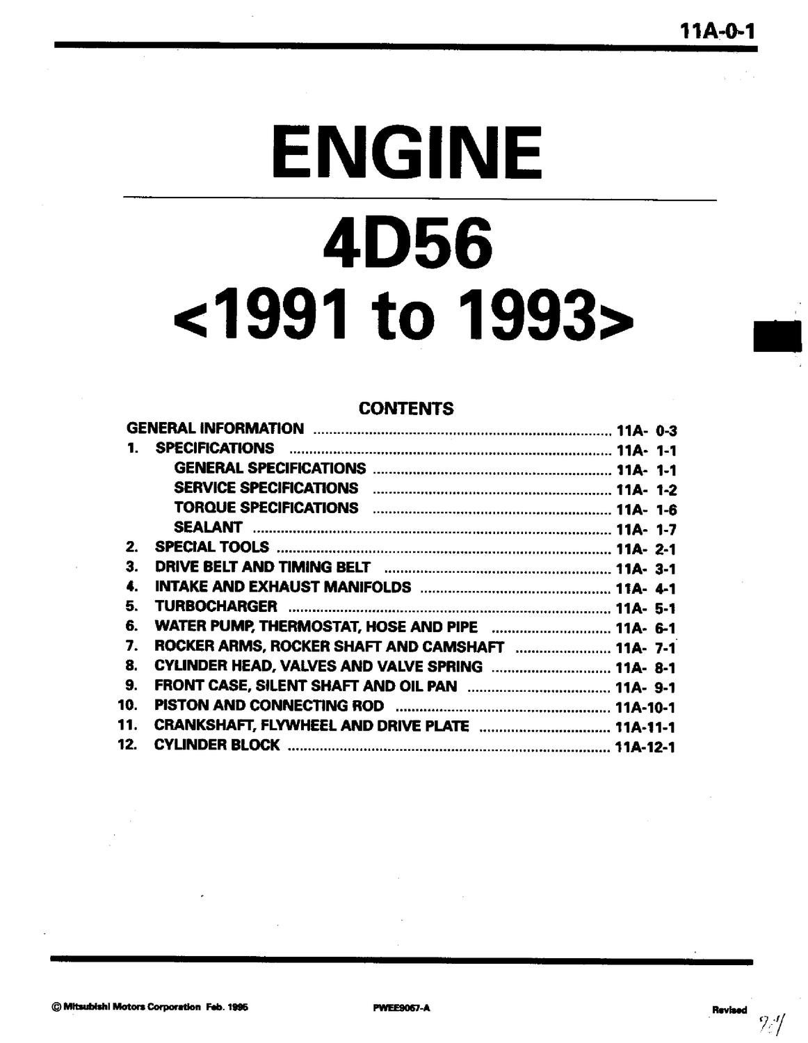 4d56 engine schematic diagram of transmission