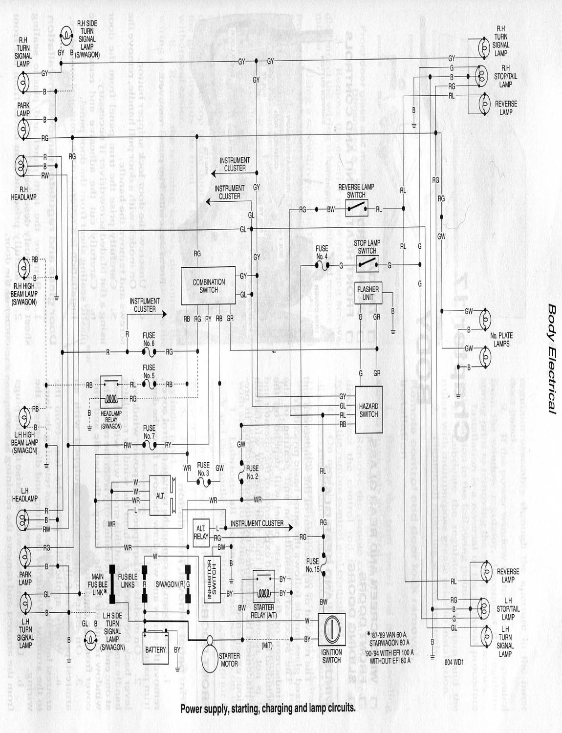 wiring diagram of mitsubishi l300 mitsubishi delica l300 '87-'92 wiring manual by felix - issuu #5