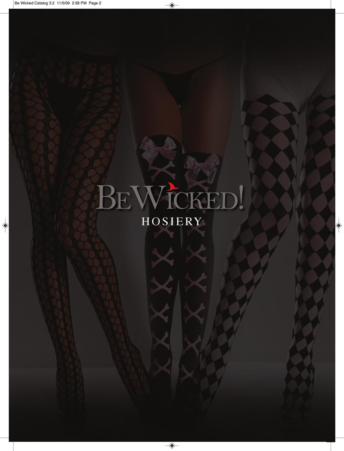 New Be Wicked BW610 Fancy Lace Nylon Thigh High Stockings