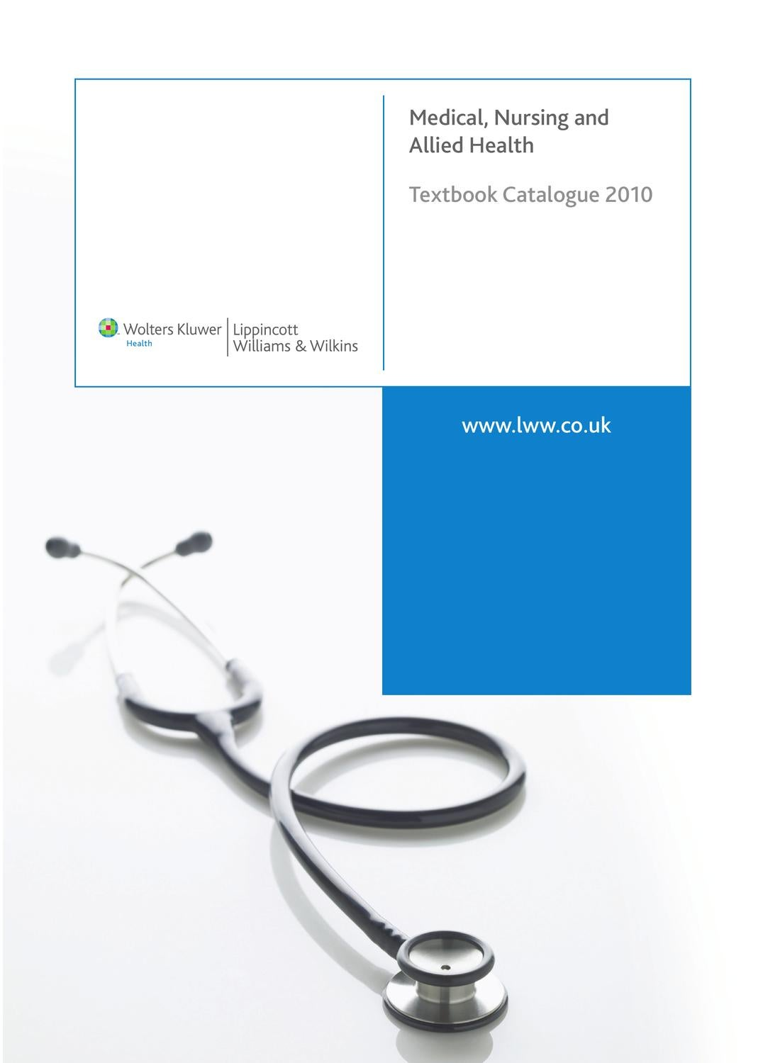 Workbooks workbook to accompany medical assisting answers : LWW 2010 Textbook Catalogue by Lippincott Williams and Wilkins - issuu
