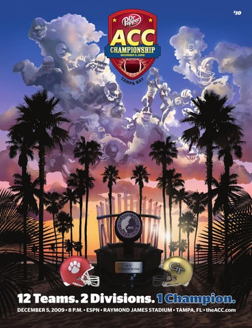 2009 Dr Pepper Acc Football Championship Game Program By Atlantic