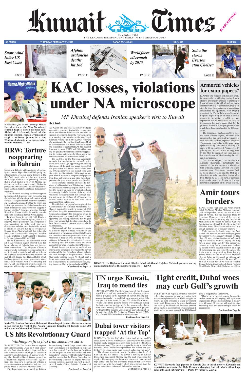 11 Feb 2010 By Kuwait Times Issuu