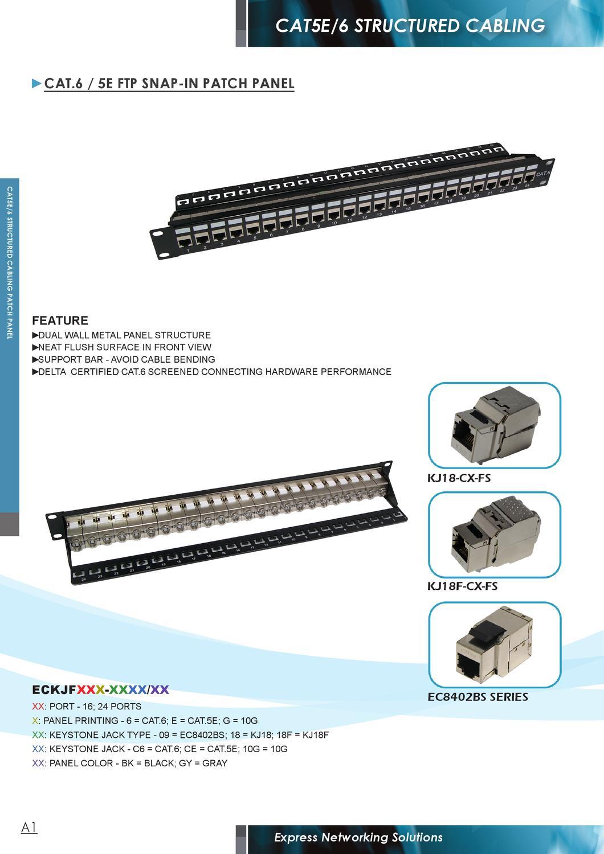 6x Cat6 RJ-45 Keystone Jack Tool Less Network LAN Snap-In 8P8C Wall Plate Black