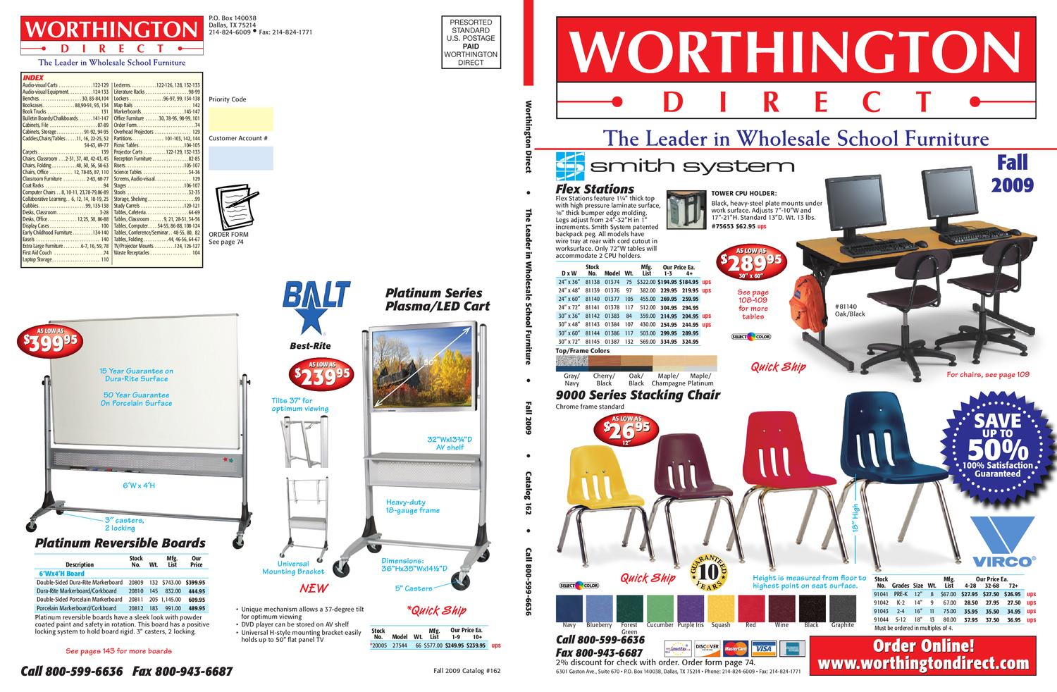 Worthington Direct School Furniture Catalog Fall 2009 By 70450 Swag Light Hook Kit Brass Finish Buy Lamp Wiring Issuu