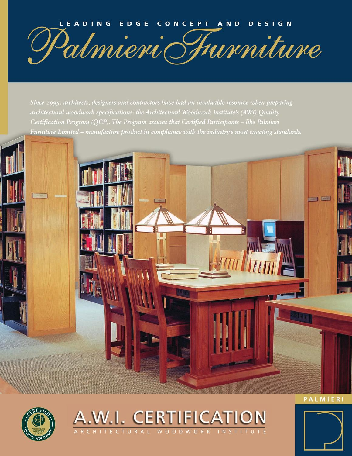 Awi Certification For Palmieri Library Furniture By Anthony