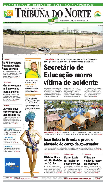 4d0e2bcc3 Tribuna do Norte - 12 02 2010 by Empresa Jornalística Tribuna do Norte Ltda  - issuu