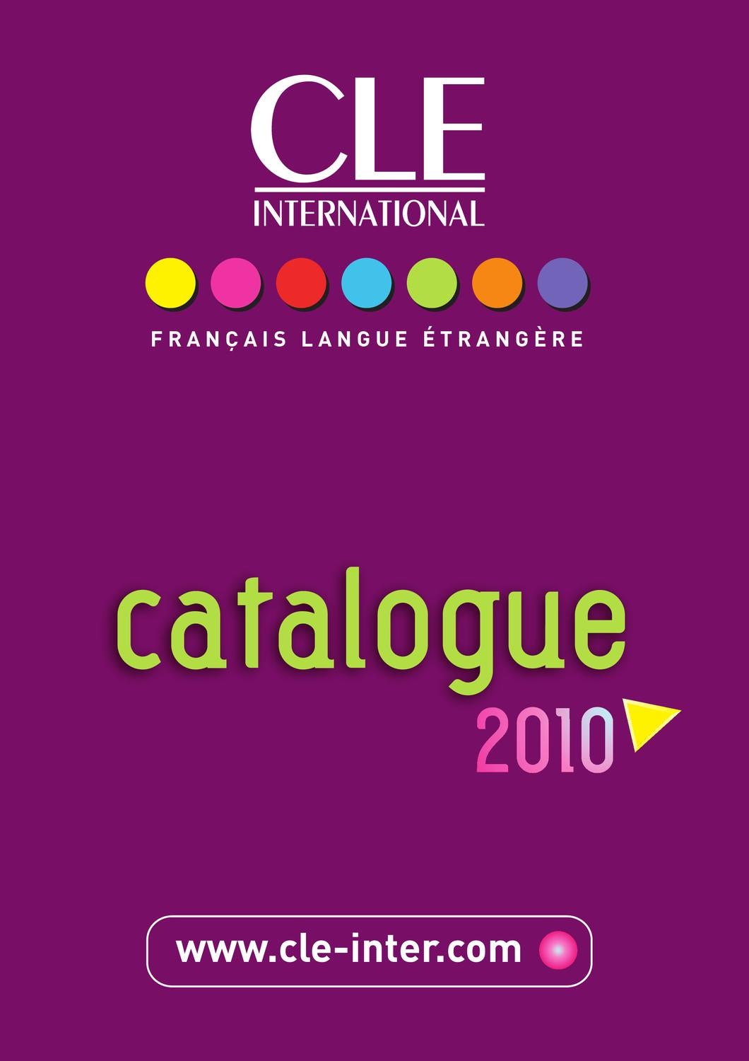 catalogue cle international 2010 by cle international