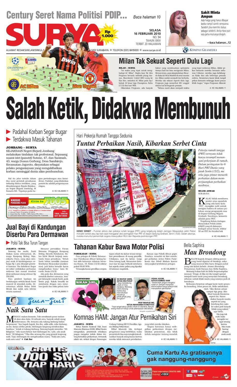 Surya Edisi Cetak 16 Feb 2010 By Harian Issuu Huawei Mifi Pahe Grapari Mataram