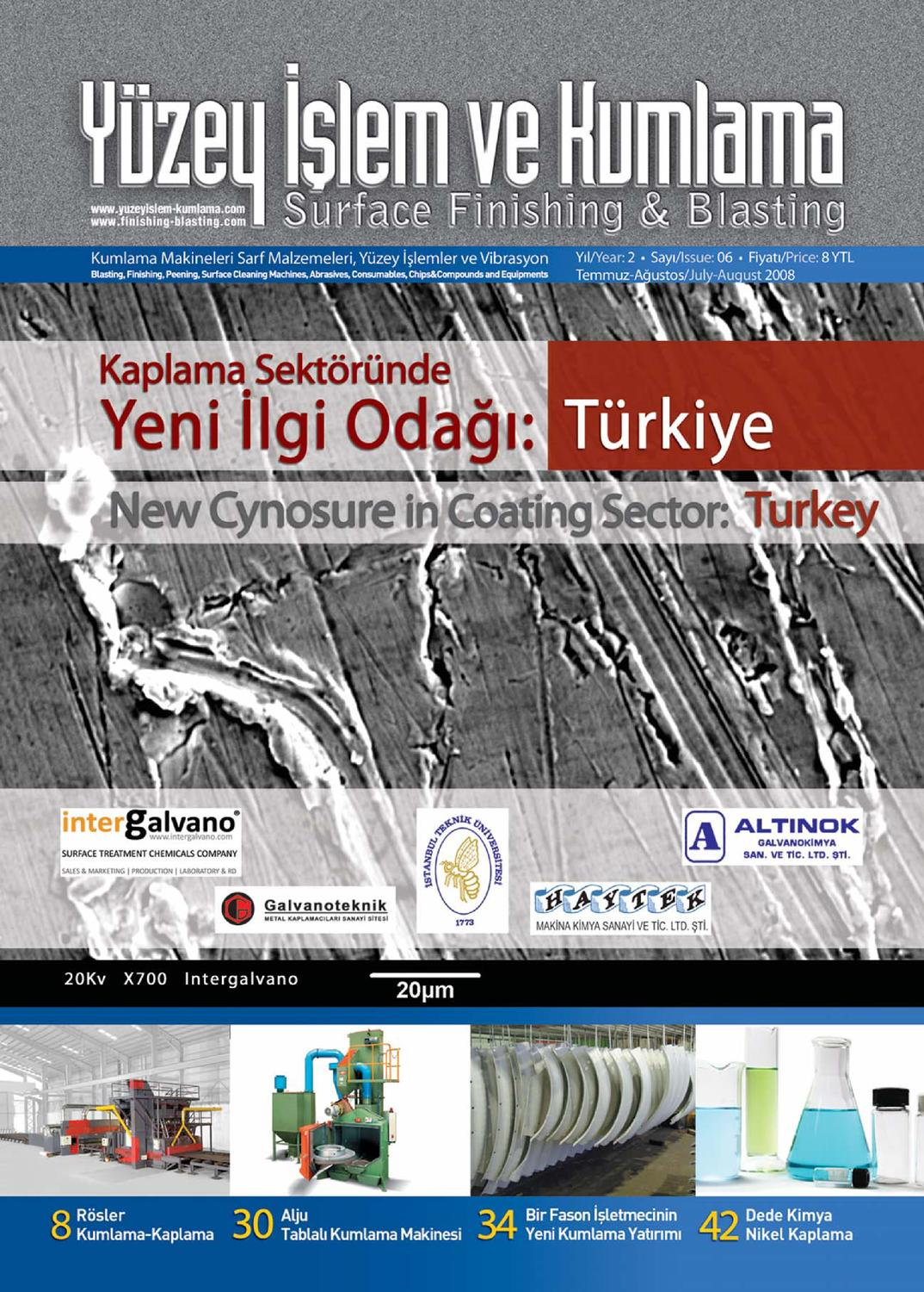 Yuzey Islem Ve Kumlama Dergisi Sayi6 By Surface Finishing Issuu
