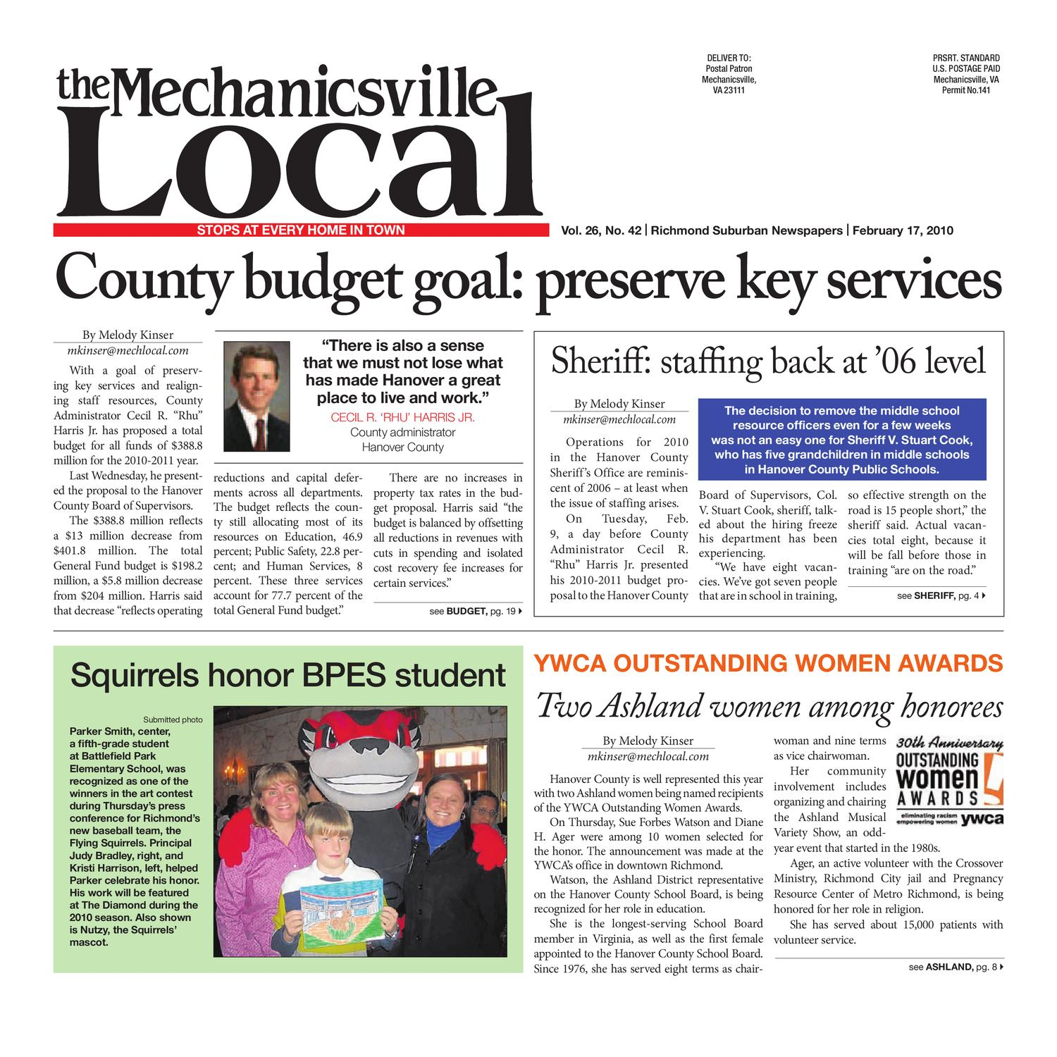 fa29e3be4 02 17 2010 by The Mechanicsville Local - issuu