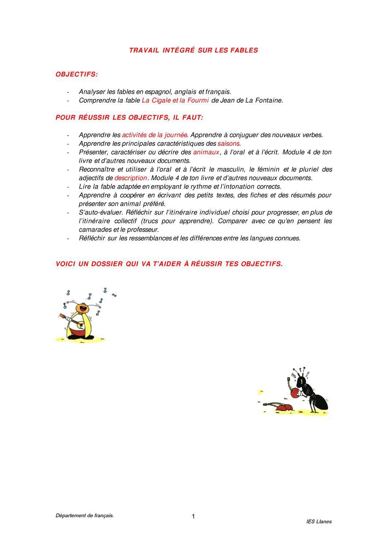 Cigale Et Le Fourmi By Candida Gallardo Issuu