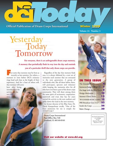 DCI Today Summer, 2001 by Drum Corps International - issuu