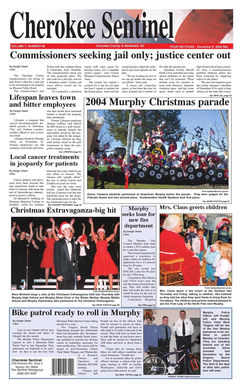 12.08.04 Cherokee Sentinel by Sentinel News Media - issuu