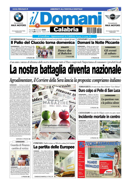 Calendario Lezioni Unicz.Il Domani By T P Editori Il Domani Issuu