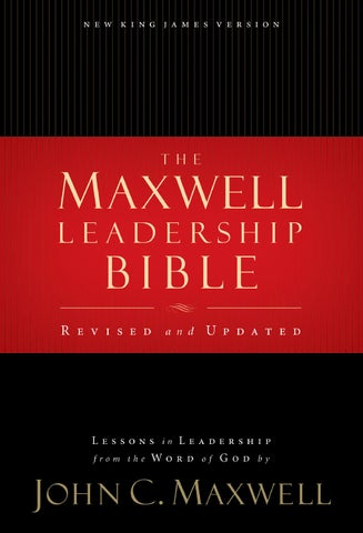 Maxwell Leadership Bible By Thomas Nelson Bibles Issuu