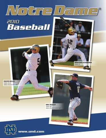 2010 Notre Dame Baseball Information Guide by Chris Masters - issuu 0dfb74a04