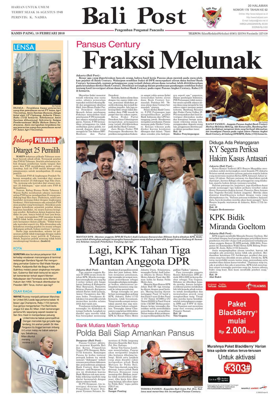 Edisi 18 Februari 2010 Balipostcom By E Paper Kmb Issuu Lg Kulkas Inverter Gn M572hphl 178cm Putih Bunga Khusus Jabodetabek